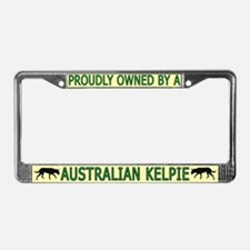 Proudly Owned Kelpie License Plate Frame