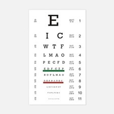 Eye Chart Rectangle Decal