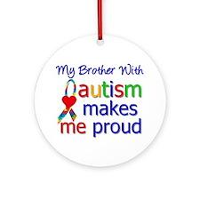 Autism Proud Ribbon Ornament (Round)