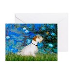 Lilies (#3) / Sealyham (L1) Greeting Cards (Pk of