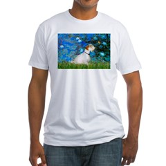 Lilies (#3) / Sealyham (L1) Fitted T-Shirt