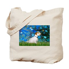 Lilies (#3) / Sealyham (L1) Tote Bag