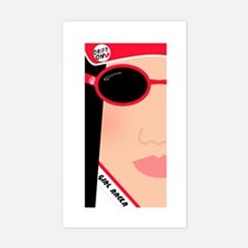GIRL RACER Rectangle Decal
