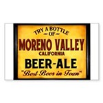 Moreno Valley Beer Rectangle Sticker 50 pk)