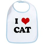 I Love CAT Bib