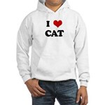 I Love CAT Hooded Sweatshirt