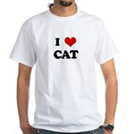 I Love CAT White T-Shirt