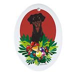 Doberman Pinscher Christmas Oval Ornament