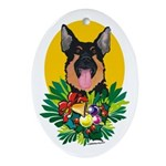 German Shepherd Dog Christmas Oval Ornament