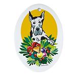 Great Dane Dog Christmas Oval Ornament