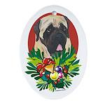 Mastiff Dog Christmas Oval Ornament