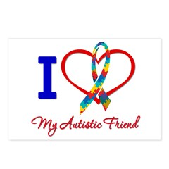 I Love My Autistic Friend Postcards (Package of 8)