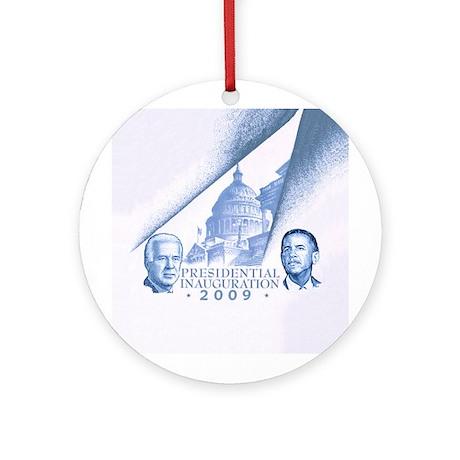 Inaugural Capital blue Ornament (Round)