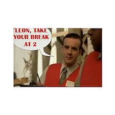 Leon Rectangle Magnet