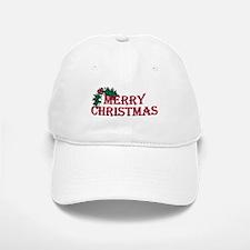Merry Christmas Holly Baseball Baseball Cap