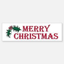 Merry Christmas Holly Bumper Bumper Bumper Sticker