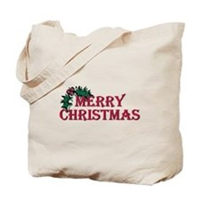 Merry Christmas Holly Tote Bag