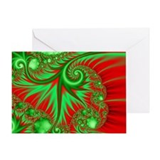 Unique Fractal Holiday Greeting Card