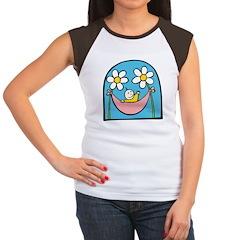 Flower Baby Women's Cap Sleeve T-Shirt