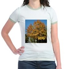 TALL COLORFUL TREE IN AUTUMN Ringer T-Shirt