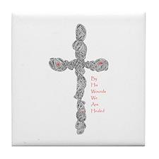 Pierced (Is 53:5) Tile Coaster