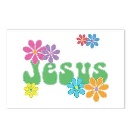 Retro Jesus Postcards (Package of 8)