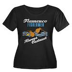 Flamencofish Women's Plus Size Scoop Neck Dark T-S