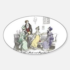 Pride & Prejudice Ch 17 Oval Decal