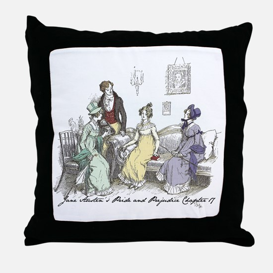 Pride & Prejudice Ch 17 Throw Pillow