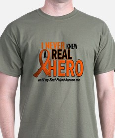 Never Knew A Hero 2 ORANGE (Best Friend) T-Shirt