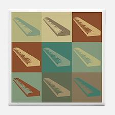 Keyboards Pop Art Tile Coaster