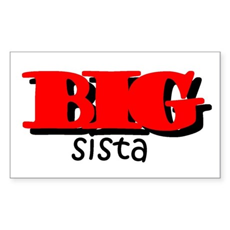 Big Sista Rectangle Sticker