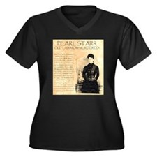 Pearl Starr Women's Plus Size V-Neck Dark T-Shirt