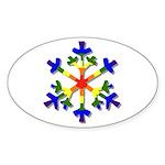 Fruit Flake Oval Sticker