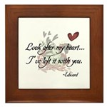 Twilight Quote Framed Tile