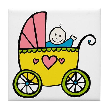 Baby in the Pram Tile Coaster