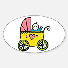 Baby in the Pram Oval Decal