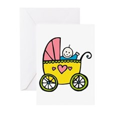 Baby in the Pram Greeting Cards (Pk of 10)