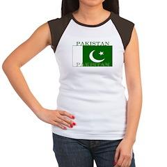 Pakistan Pakistani Flag Women's Cap Sleeve T-Shirt