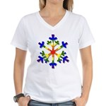 Fruit Flake Women's V-Neck T-Shirt
