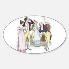 pride & Prejudice Ch 18 Oval Decal