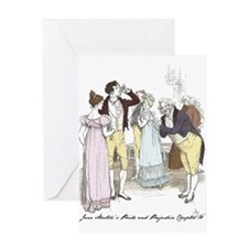 pride & Prejudice Ch 18 Greeting Card