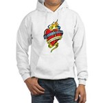 Down Syndrome Tattoo Heart Hooded Sweatshirt