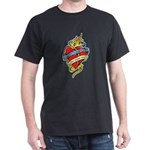 Down Syndrome Tattoo Heart Dark T-Shirt