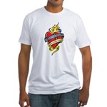 Down Syndrome Tattoo Heart Fitted T-Shirt
