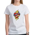 Down Syndrome Tattoo Heart Women's T-Shirt