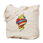 Down Syndrome Tattoo Heart Tote Bag