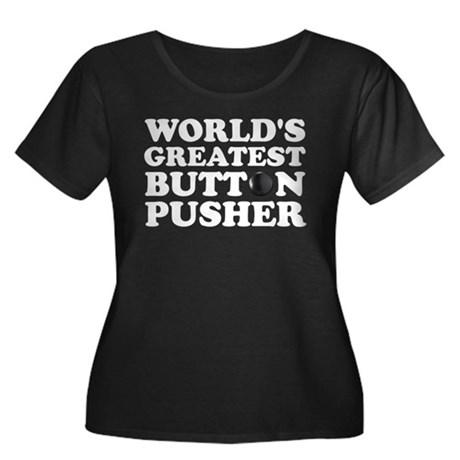 WTD: World's Greatest Button Women's Plus Size Sco
