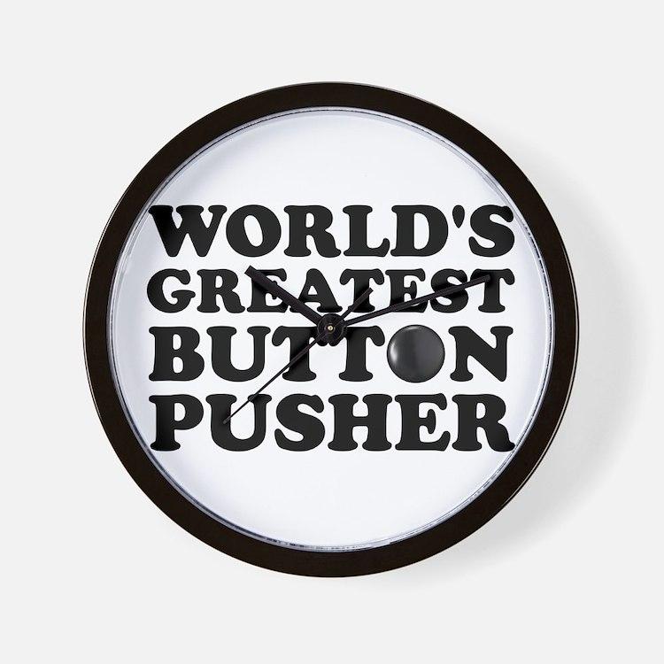 WTD: World's Greatest Button Wall Clock