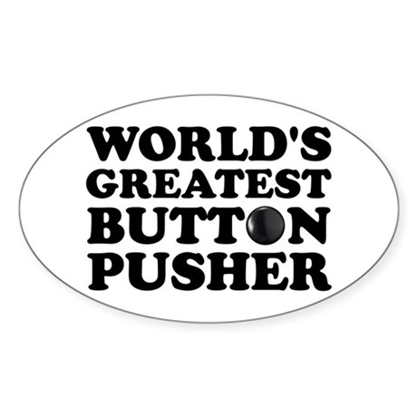 WTD: World's Greatest Button Oval Sticker